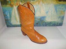 Acme Tan Women Leather Cowboy Western Boots Size 8 M