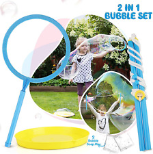 Toy Life Big Bubble Wand For Kids Set - Giant Bubble Wand Makes Huge Bubbles - G