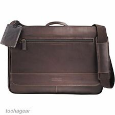 """NEW! Kenneth Cole® Colombian Leather 15"""" Macbook pro Laptop Messenger Travel Bag"""