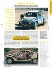 2 CV Citroën Raid au Maroc/Tibet Marguerite Batigue 2003 Car Auto FICHE FRANCE