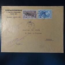 N°762 N°780 LETTRE RECOMMANDE COVER CAD PARIS 22 RUE TAIBOUT POUR VERDUN