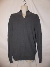mens izod 1/4 zip ribbed sweater L nwt $64 carbon heather gray