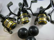 3 X OKUMA CARBONITE 2M CBR335M REAR DRAG FISHING REEL 3BB + SPARE SPOOL
