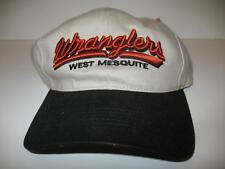Wranglers West Mesquite Golf Baseball Cap Hat Golf Beige Blue Hook+Loop Strap