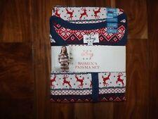 NWT Womens LANZ Ivory Print Pajama Set Sleepwear Set Sz XL X-Large 18-20
