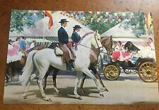 Artist Signed F Wooton Horses Spanish Riders Spain Mexico Parade POST CARD TUCK