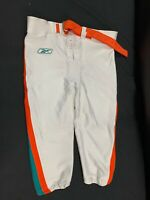MIAMI DOLPHINS REEBOK GAME USED THROWBACK FOOTBALL PANTS SIZE-52 YEAR-2003