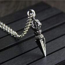 Genuine Solid 925 Sterling Thai Silver Pendant Men's Vajra Jewelry