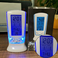 Digital Table Alarm Clock Backlight LED Display Snooze Thermometer Calendar