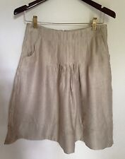 Womens J. Jill Khaki Gold Metallic Mix Unlined Zipper Skirt Size 6P NWT