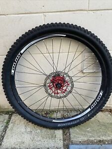Hope tech DH 275 Wheel/Hubs with Bontrager G5 Tyre. DT Swiss Bag.