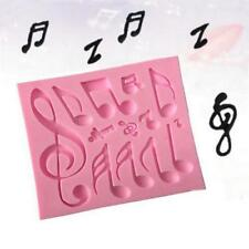 DIY Music Note Cookie Cutter Cake Silicone Mould Fondant Sugarcraft Cookie New C