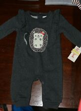 Hedgehog Charcoal One Piece Footless - 0-3 month - Cat & Jack