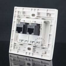 Wall Plate 2 Ports Double RJ45 Cat6 Network LAN Outlet Panel Faceplate