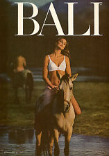 1978 Bali Lingerie Bra Horseback Riding Sexy 2-Pg Vintage Print Ad 1970s