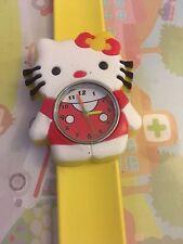Reloj Pulsera Hello Kitty de Cuarzo Correa fácil de Niños Niñas Regalo Amarillo Slap ESY1