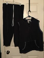 Tigertail Womens Hooded Vest Jacket And Crop Pants Nwot