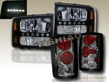 Ford Excursion Black Headlights + Smoke Tail Lights 2000 2001 2002 2003 2004