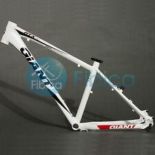 """New GIANT ATX PRO Alloy MTB Mountain Bike Frame BSA 26er 16"""" Size S White"""