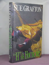 4th, signed by author, Kinsey Millhone 8:H is for Homicide by Sue Grafton (1991)