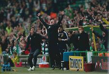 Neil LENNON Signed Autograph 12x8 Photo AFTAL COA Celtic Manager Scotland