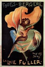 FOLIES-BERGERE jean de paléologue FRANCE vintage AD POSTER 1897 RARE hot
