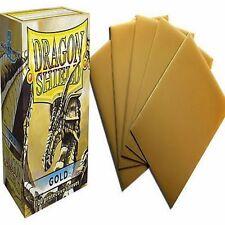 100 Bustine Protettive DRAGON SHIELD Magic GOLD Oro Sleeves Porta Mazzo MTG