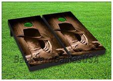 CORNHOLE BEANBAG TOSS GAME w Bags Western Country Cowboy Ranch Farm Boots Set124
