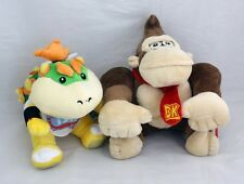 "Super Mario Brothers 8"" Donkey Kong & Bowser Jr.Stuffed Plush Doll Toy Set of 2"