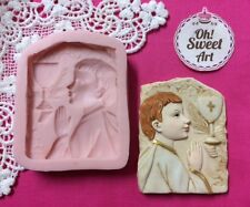 First Communion Boy Silicone Mold Food Cake Decoration soap topper Cupcake (FDA)