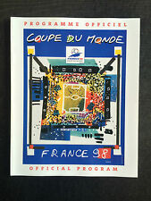 Coupe du monde 1998 world cup official programmes-Coupe du Monde France