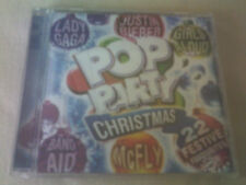 POP PARTY CHRISTMAS - 22 TRACK CD ALBUM - MCFLY/GIRLS ALOUD/ABBA/JUSTIN BIEBER