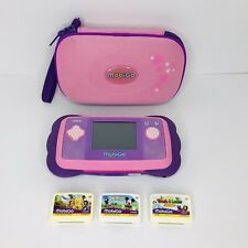 VTech MobiGo Pink Childrens Learning System w/ Games And Carrying Case - Tested