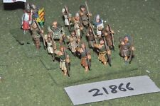 25mm medieval / english - archers 16 figs infantry - inf (21866)