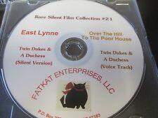 Rare Silent Film Collection #21 East Lynne, Twin Dukes & a  Duchess