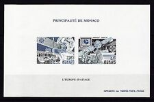 Monaco EUROPA CEPT Satellite & Space 1991 Special Imperf SS of 2 MNH** Mi € 220