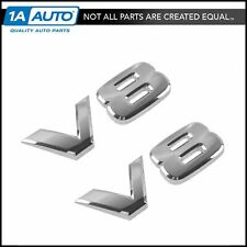 OEM V8 Emblem Badge Pair LH & RH Sides Front Chrome for Nissan Infiniti New