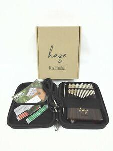 Haze 01ER Solid Rosewood Kalimba MBIRA Thumb Piano,7-Key,w/Pickups+EVA Hard Case