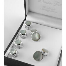 Sterling Silver Mother of Pearl Shirt Stud & Cufflink Set