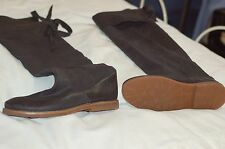 Frye Black Over  Knee Leather Boots Shoes Size 9 1/2 B
