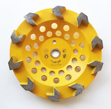 New 7� Arrow Segments Edco Diamond Grinding Cup Wheel w/Pin Hole- The Best