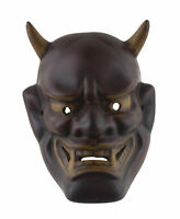 Piccolo Maschera Oni Devil No. Demon Giapponese IN Resina Bordeaux Noh 26513