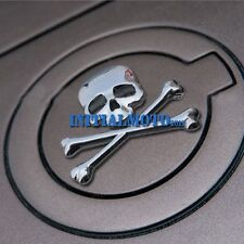 Silver Car Skull Crossbones Demon Skeleton Metal Emblem Badge Logo Decal Sticker