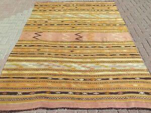 """Striped Rug, Vintage Turkish Kilim, Carpet, Area Rugs, Large Rug, Kelim 71""""x97"""""""