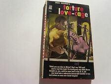 TORTURE LOVE-CAGE  1959  JACK SAVAGE   BIZARRE BRUTAL COVER   RARE   VERY FINE