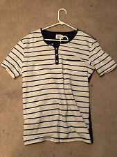 Shades Of Grey Micah Cohen Striped T-Shirt Blue/White Men's Size Large