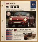 1992 MG RV8 IMP Brochure Poster Print Photo 1992-1996 UK