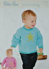 Tejer patrón para niños a rayas Corazón & Star Puentes DK Peter Pan 1182