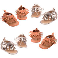 Summer Baby Girls Kids with Tassel Sandals Crib Shoes Soft Sole Prewalkers