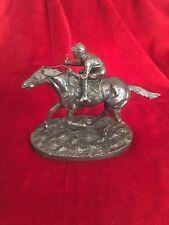 Stunning MENE Bronze Horse & Jockey Sculpture Statue Equestrian Racing Ornament